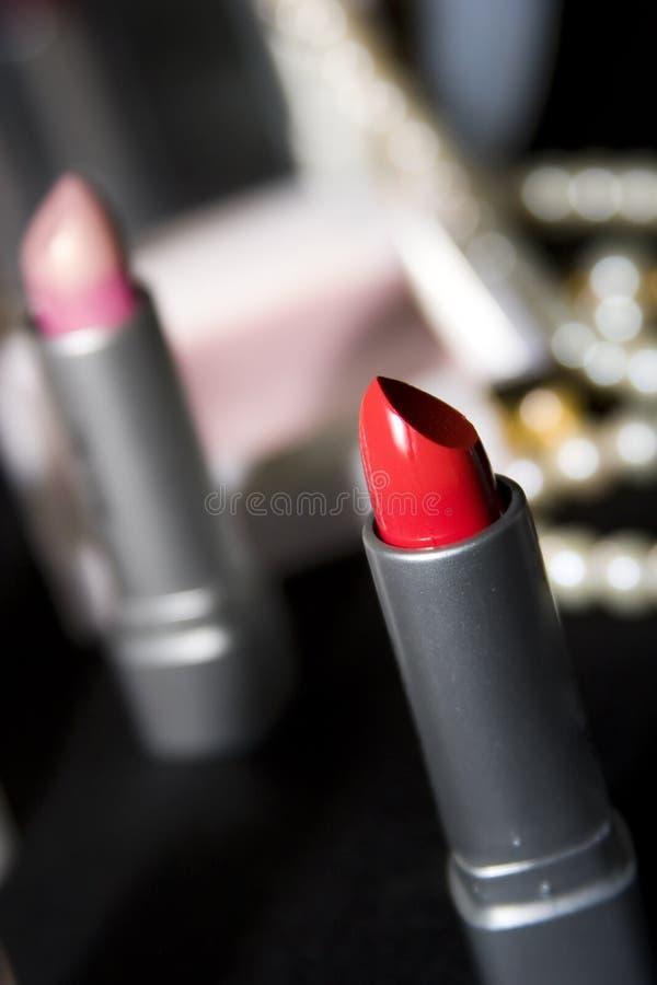 czerwony szminkę obrazy stock