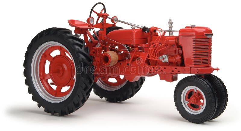 czerwony tło białe ciągnika zdjęcie royalty free