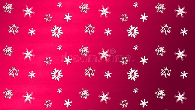 CZERWONY tło tekstury śnieg ilustracja wektor
