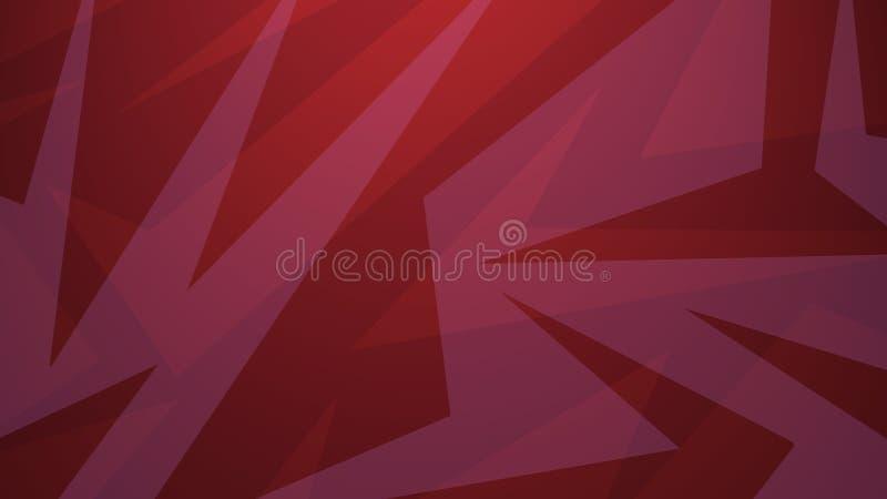 Czerwony tło w abstrakcjonistycznym sztuka współczesna stylu projekcie z warstwami przypadkowi kąty i linia wzór ilustracja wektor