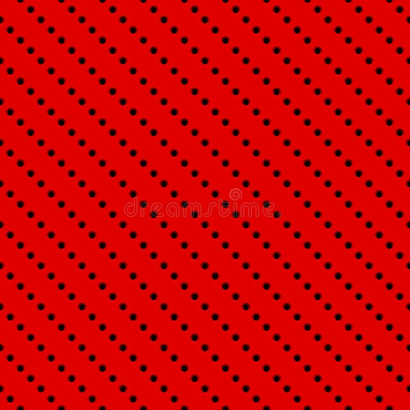 Czerwony tło z Dziurkowatym wzorem ilustracja wektor