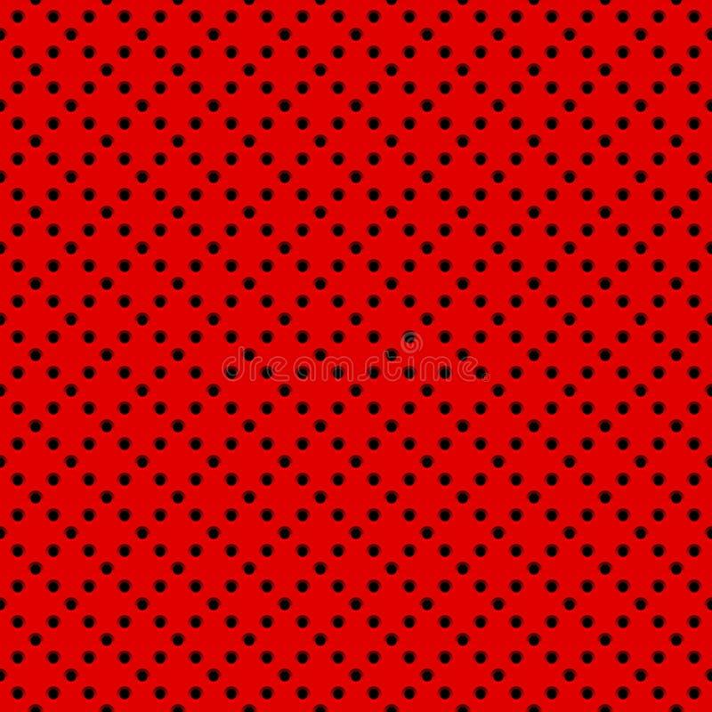 Czerwony tło z Dziurkowatym wzorem ilustracji