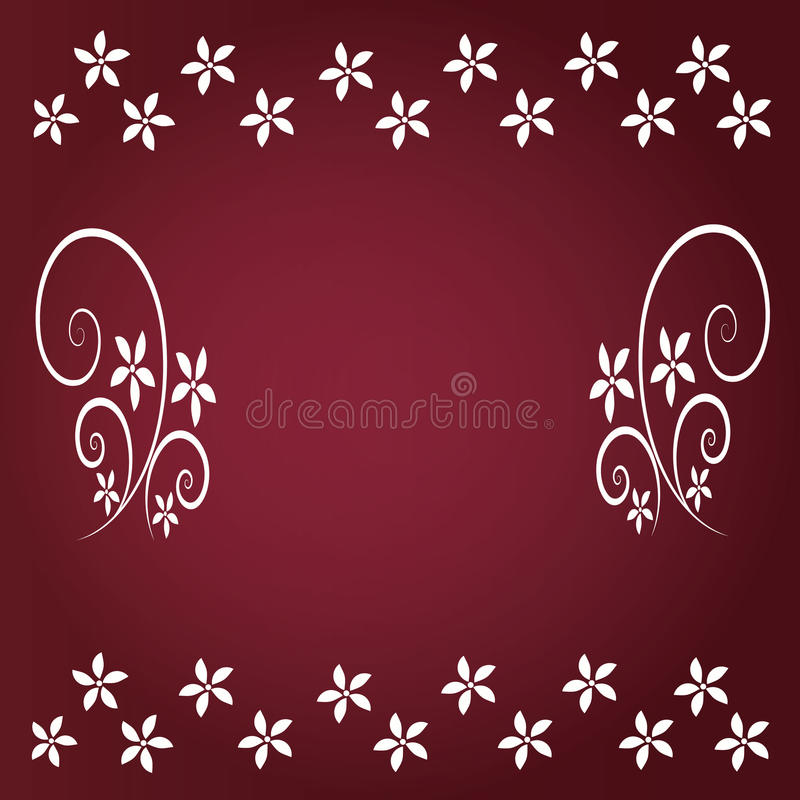Czerwony tło z kwiecistym zdjęcia stock