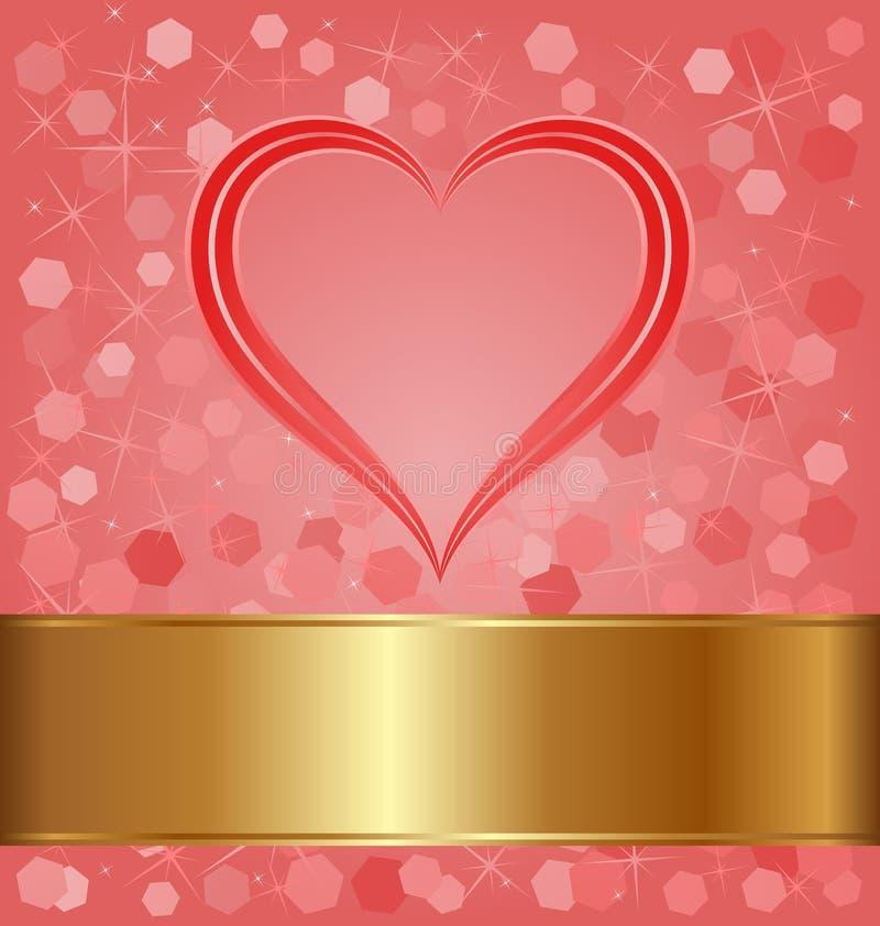 Download Czerwony tło ilustracja wektor. Obraz złożonej z valentines - 28858656