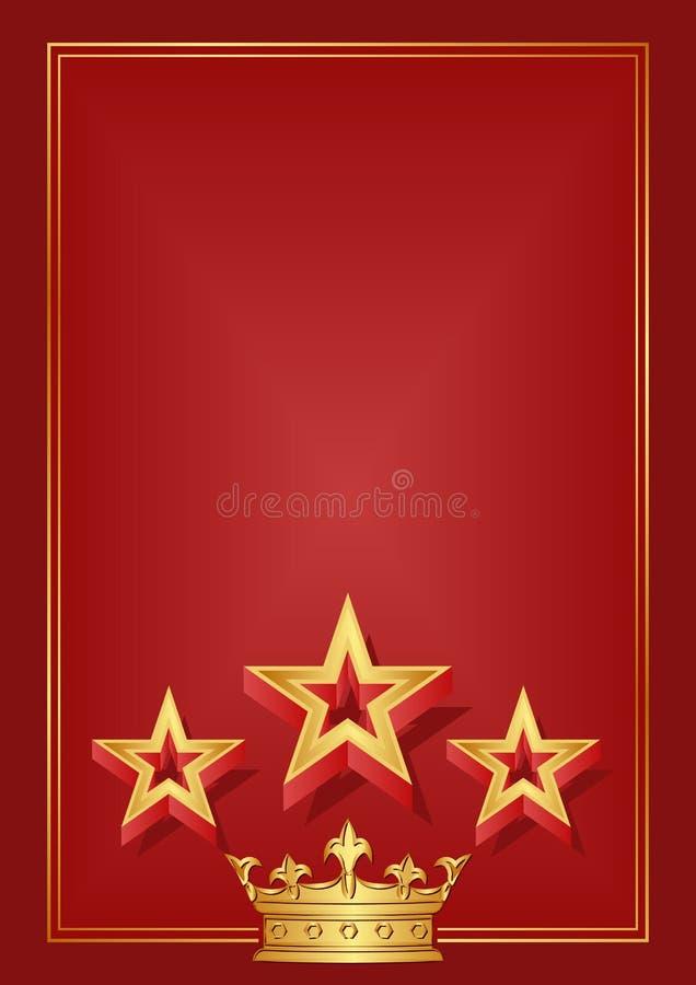 Download Czerwony tło ilustracja wektor. Obraz złożonej z rama - 30298664
