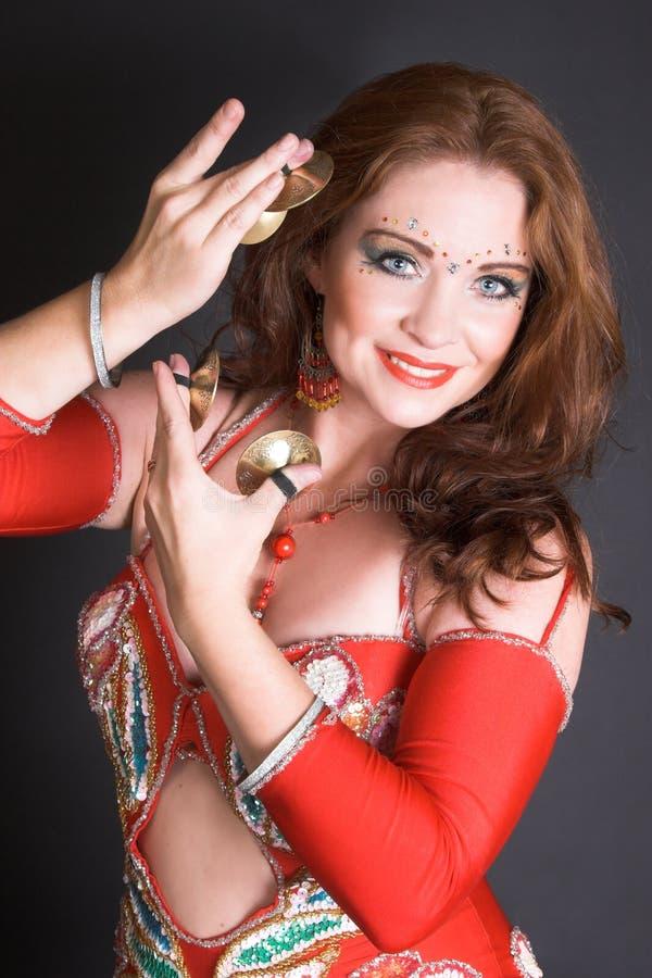czerwony tancerkę brzucha zdjęcie stock