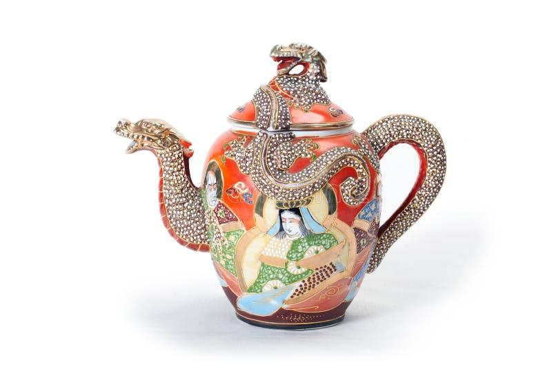 czerwony teapot zdjęcie royalty free