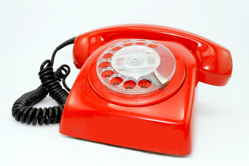 czerwony telefon fotografia royalty free