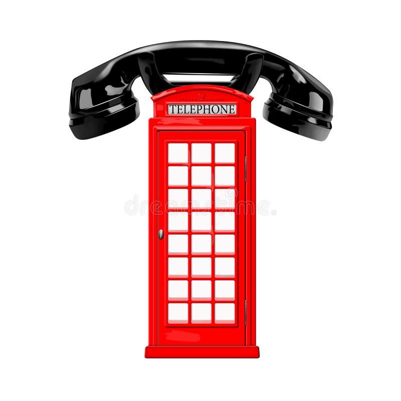 Czerwony telefoniczny pudełko royalty ilustracja