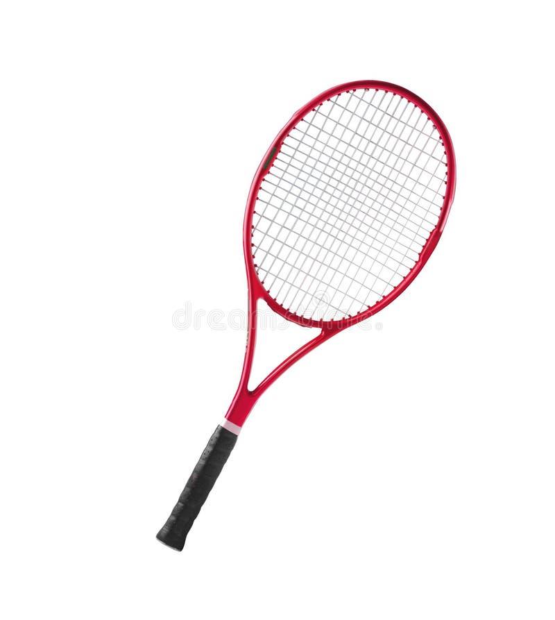 Czerwony tenisowego kanta odosobniony biel zdjęcia stock
