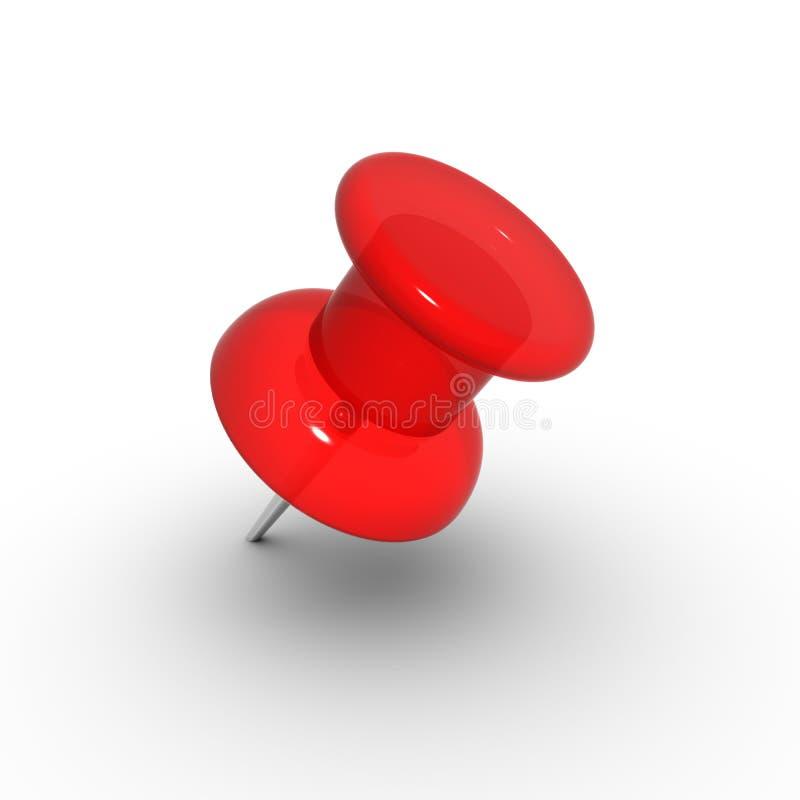 czerwony thumbtack zdjęcie stock