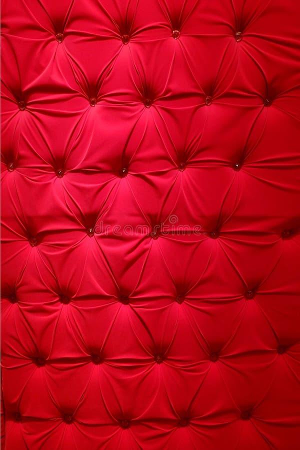 Czerwony tkaniny tapicerowanie zdjęcia stock
