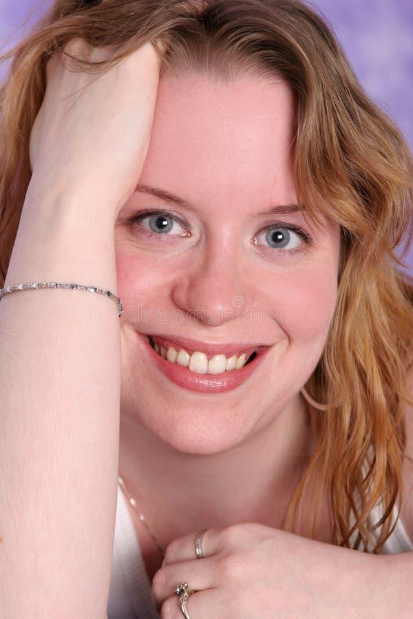czerwony uśmiech fotografia stock