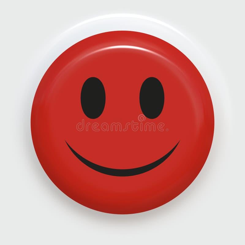 czerwony uśmiechnięta royalty ilustracja