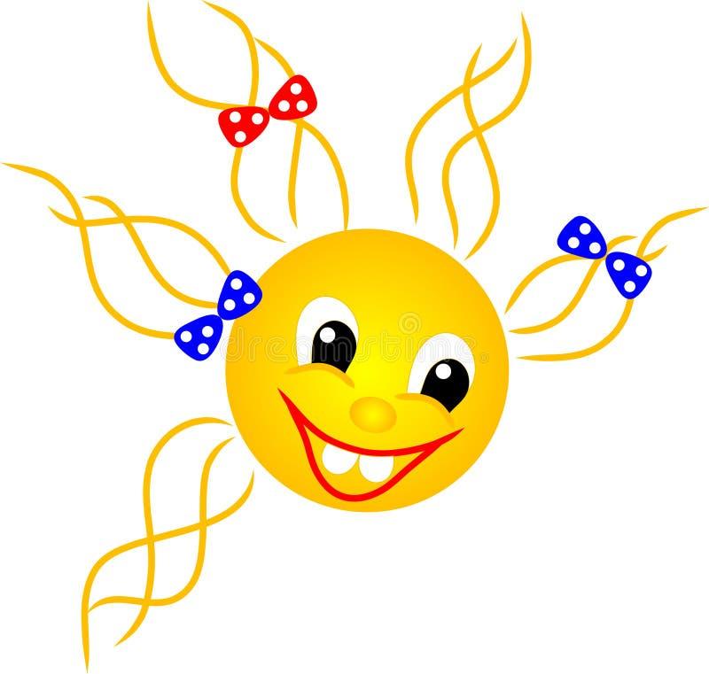czerwony uśmiechnięty słońce zdjęcia stock