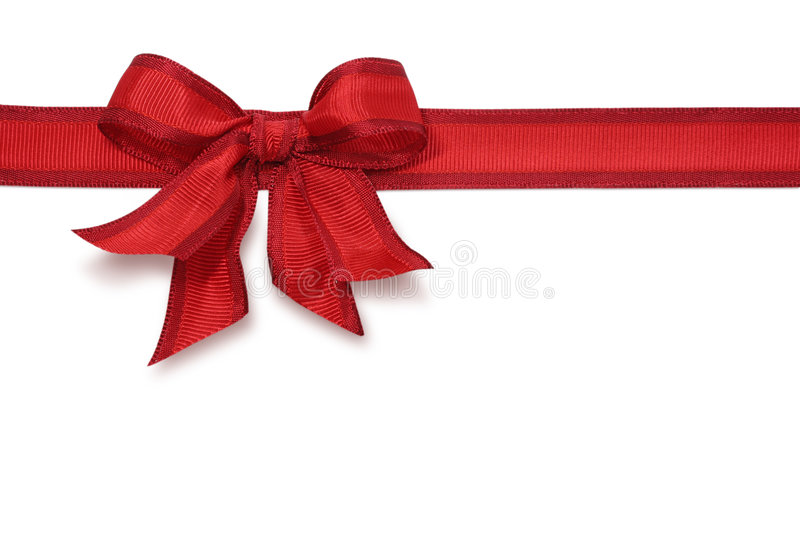 czerwony ukłon zdjęcie royalty free