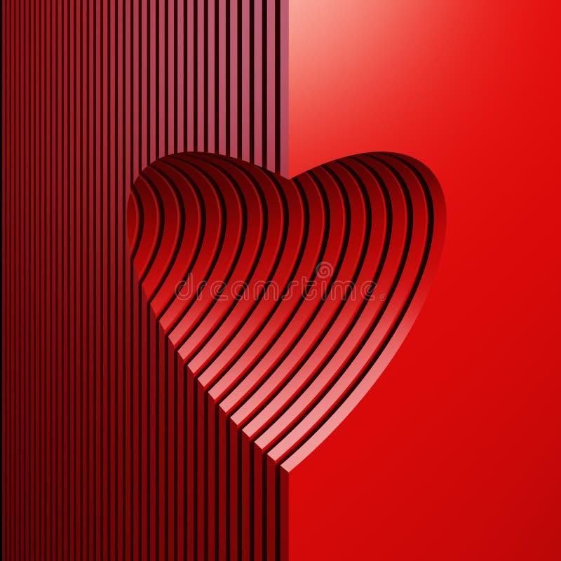 Czerwony valentine serce royalty ilustracja
