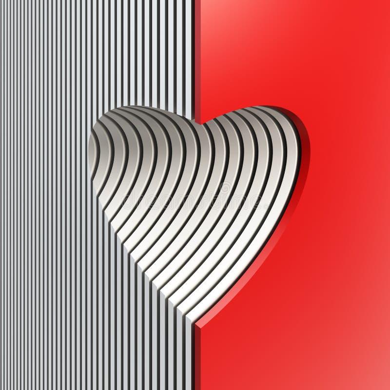 Czerwony valentine serce ilustracja wektor