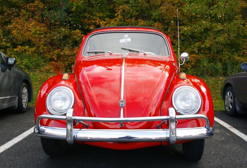 czerwony Volkswagen fotografia stock