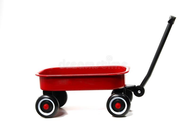 czerwony wózek fotografia stock