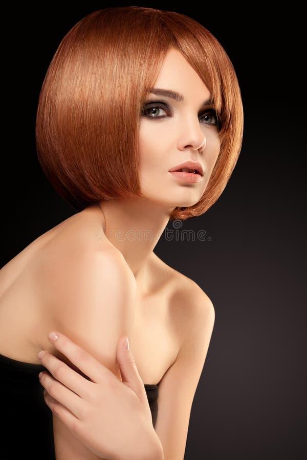 Czerwony włosy. Wysokiej jakości wizerunek. obraz stock