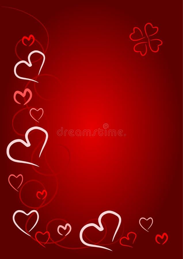 czerwony walentynki serce royalty ilustracja