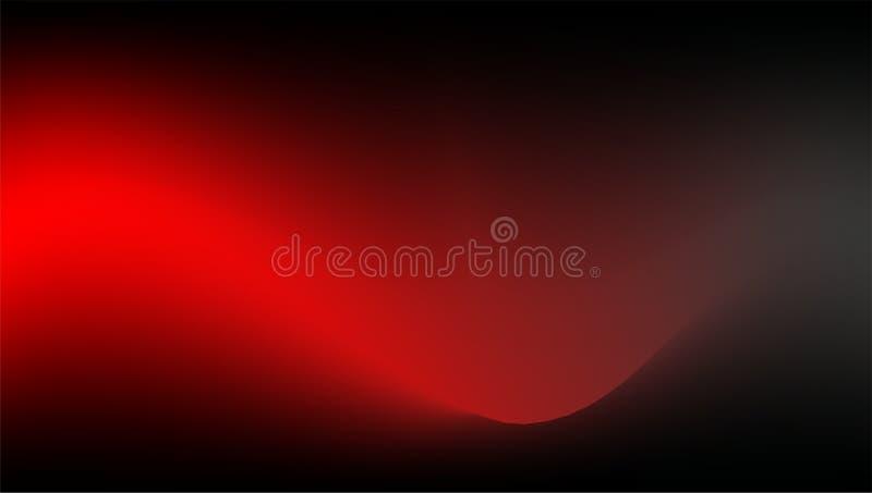Czerwony wektor, falisty abstrakcjonistyczny tło na zmrok bazie royalty ilustracja