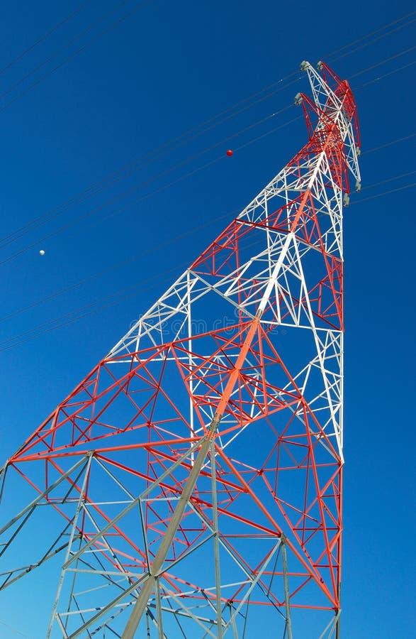 czerwony wieża white zdjęcia stock