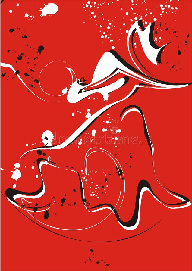 czerwony wiruje white ilustracji