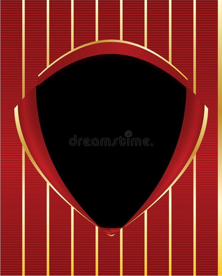 Czerwony złocisty czarny osłony ramy tło royalty ilustracja