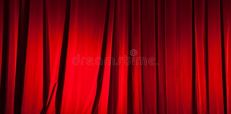 Czerwony zasłona sztandar obraz stock