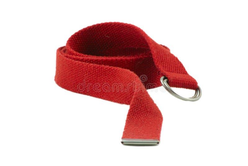 czerwony zatrzasku od pasa fotografia stock