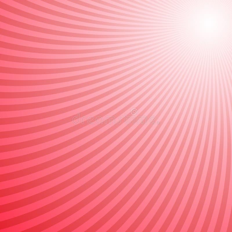 Czerwony zawijasów lampasów tła projekt - wektorowa ilustracja ilustracji