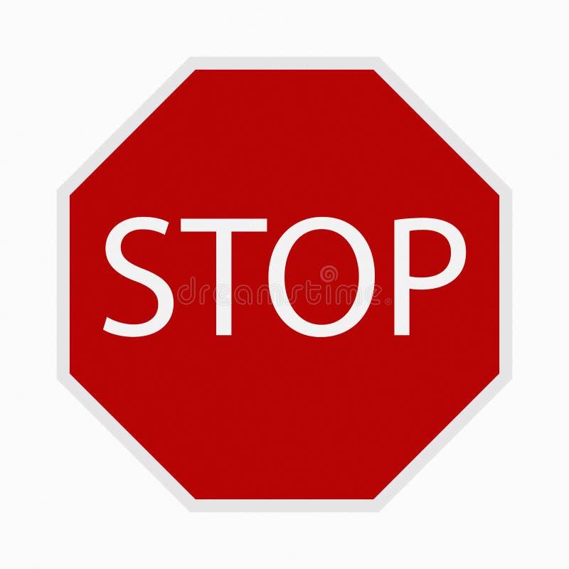 czerwony znak stop ilustracja wektor