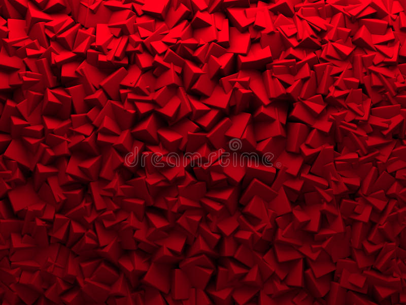 Czerwonych Chaotycznych sześcianów Ścienny tło royalty ilustracja