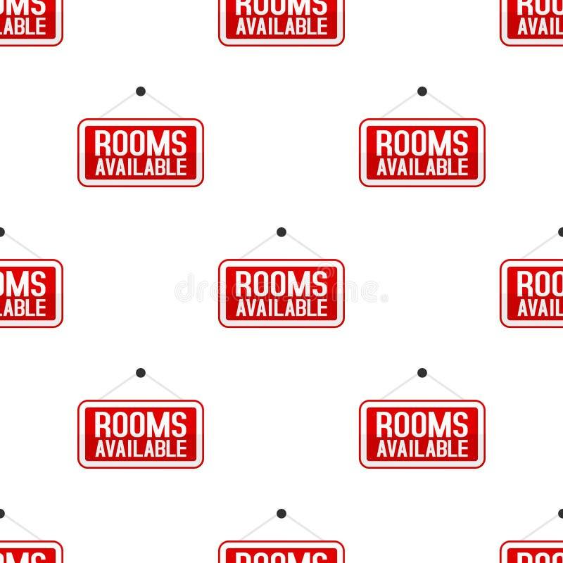 Czerwonych pokojów Dostępny Bezszwowy wzór ilustracja wektor