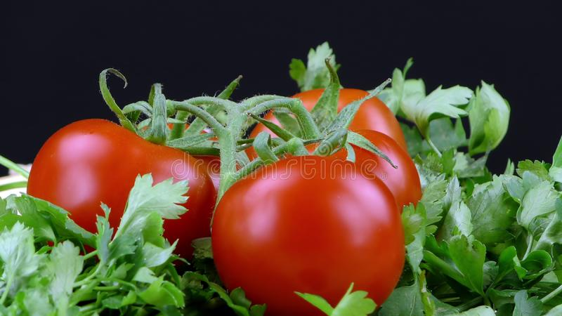 Czerwonych pomidorów zamknięty up fotografia royalty free