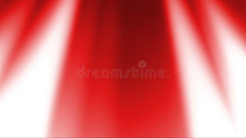 Czerwonych promieni Lekki tło ilustracji