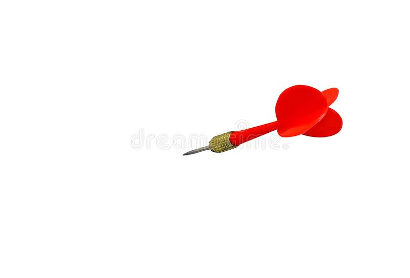 Czerwonych strzałek strzałkowata stal odizolowywająca na białym tle obrazy royalty free