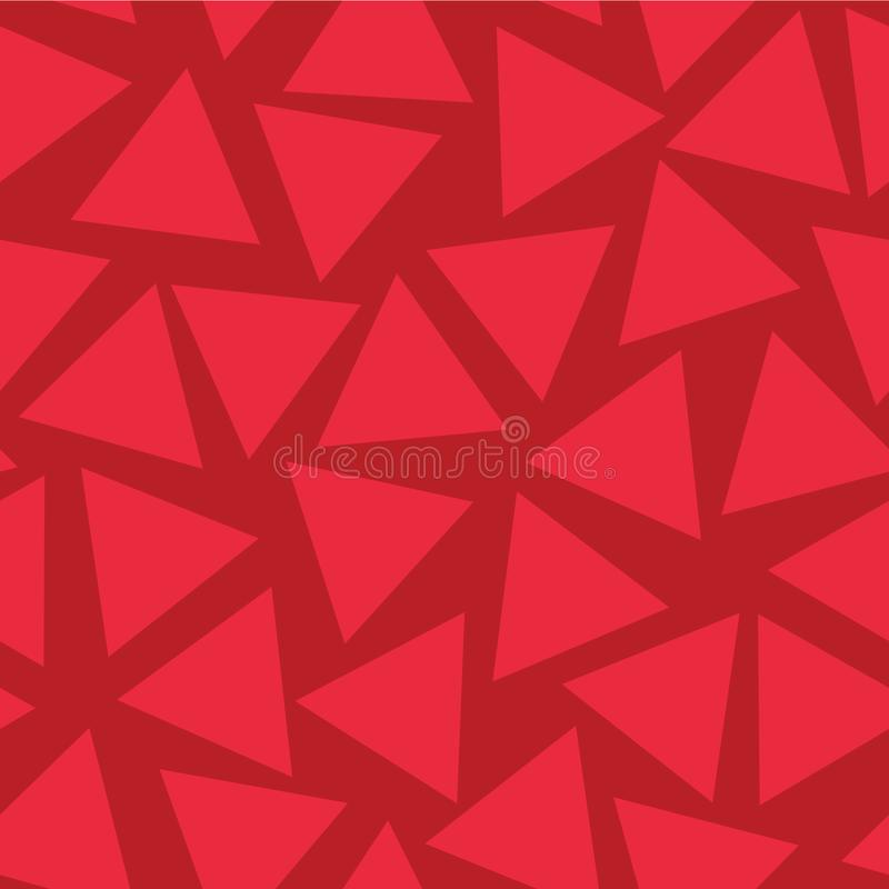 Czerwonych trójboków wektoru Bezszwowy wzór Przypadkowo umieszczający Subtelny czerwony odcienia tło Abstrakcjonistyczna geometry ilustracja wektor