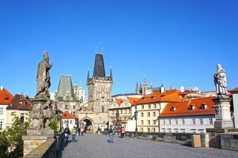 czeska Charles bridżowa republika Prague zdjęcia royalty free