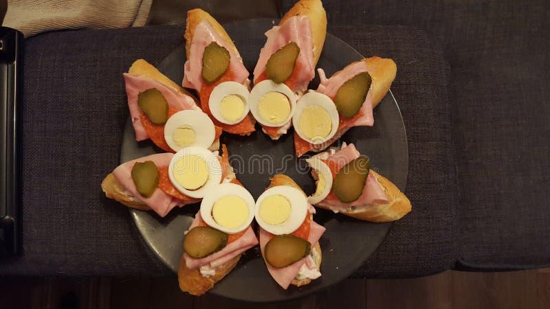 Czeska kanapka zdjęcie stock