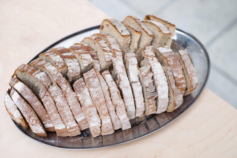 Czeski chleb i solankowy tradycyjny powitanie talerz obraz stock