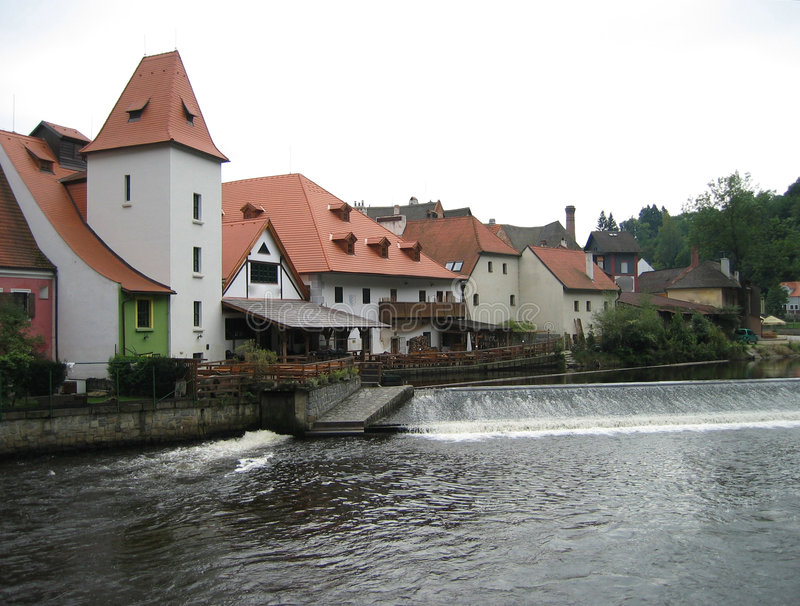 czeski krumlov architektury obrazy stock