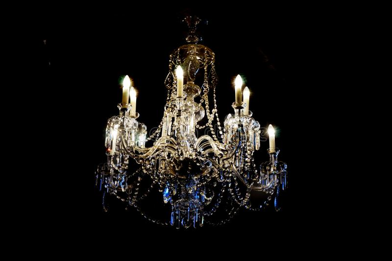 czeski krystaliczny świecznik obraz royalty free