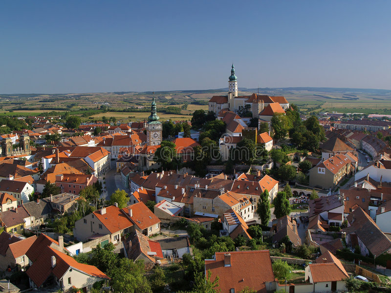 czeski mikulov miasta obrazy stock