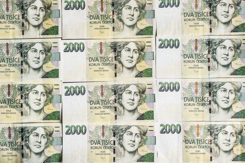 Czeski pieniądze szyk w wzorze obraz stock