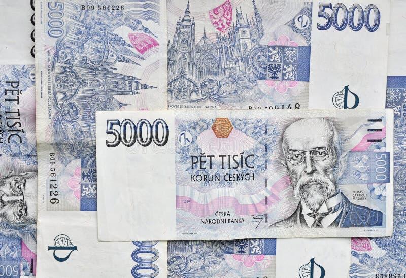 Czeski pieniądze tło zdjęcia royalty free