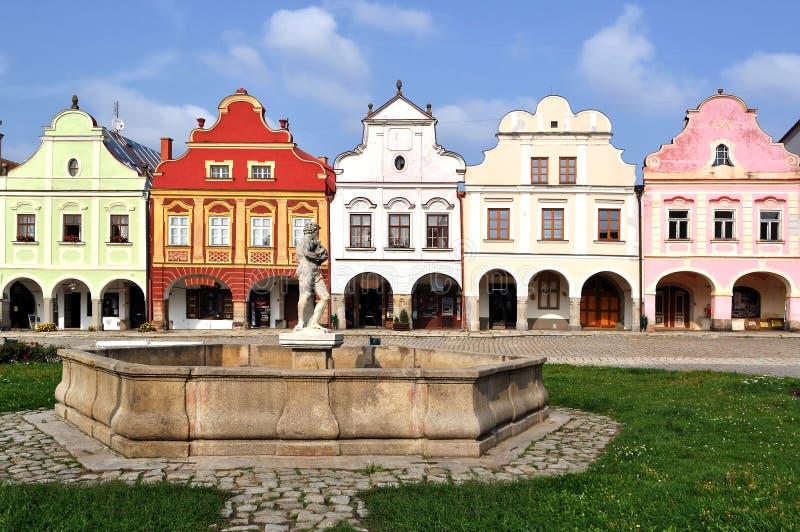 czeski republi republiki telc miasteczko zdjęcia stock