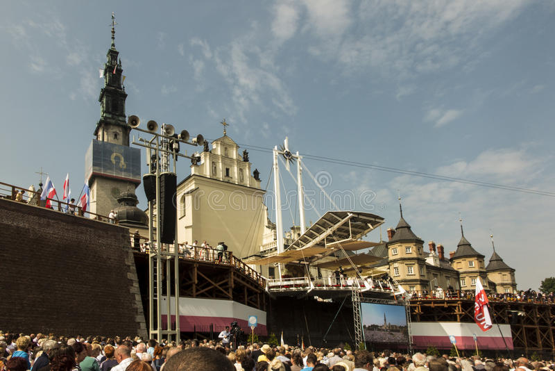 Czestochowa, Польша, 26-ое августа 2017: Юбилей 300 годовщины стоковые изображения rf